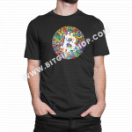 bitcoin art mens tshirt-black