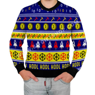 Crypto Ugly Sweater. Full knitted