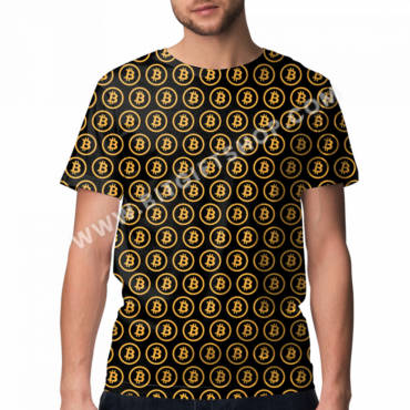 Bitcoin (Gold & Black) All Over T-shirt