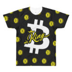Bitcoin King all-over printed black t-shirt