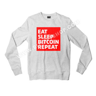 Eat. Sleep. BITCOIN. Repeat. Crypto Sweatshirt